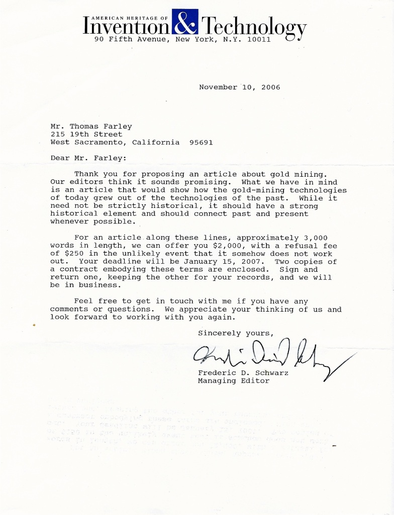 Throwback thursday an acceptance letter from the past for Acceptance for value template