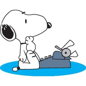Snoopy_with_typewriter